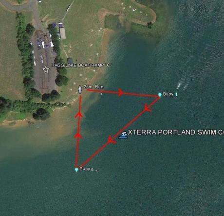 XTERRA Portland Swim Course
